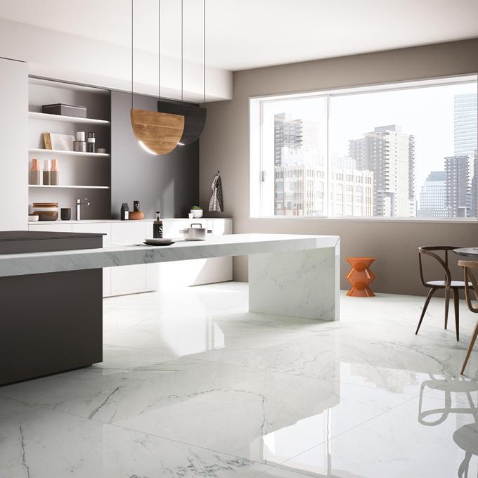 Cuisine marbre Logis décor