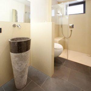 salle de bain marbre Logs décor